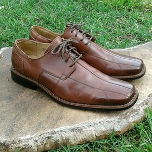 Men's Stacy Adams Brown Leather Lace Up Oxfords